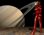 The Girl in The Red Spacesuit